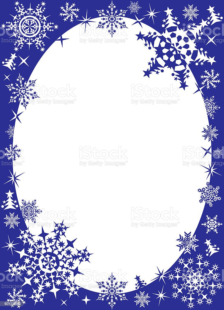 Winter frame with snowflakes royalty-free winter frame with snowflakes stock vector art & more images of abstract