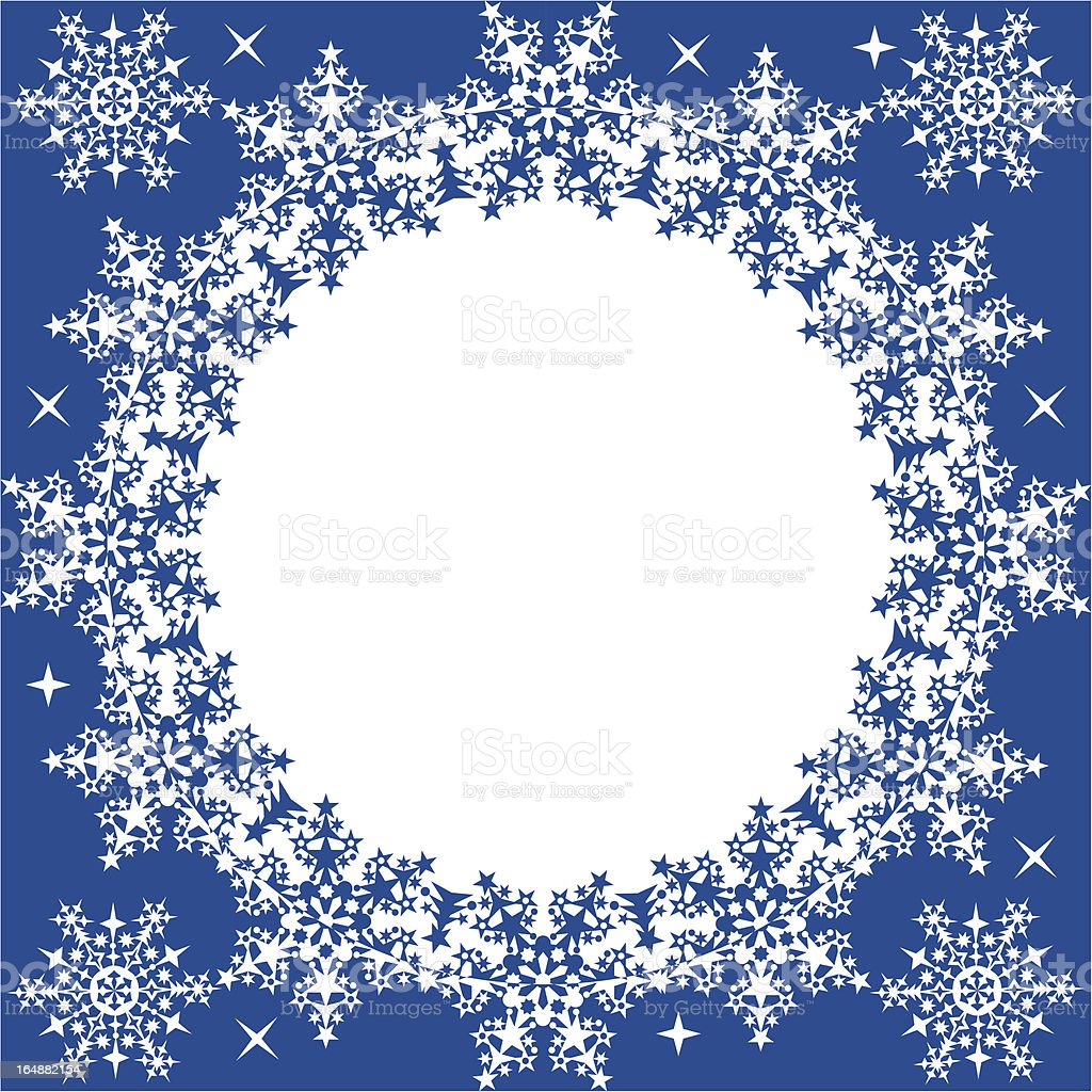 Winter frame with snowflakes, vector royalty-free stock vector art