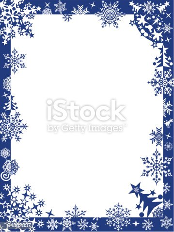 Winter Frame With Snowflakes Vector Stock Vector Art ...