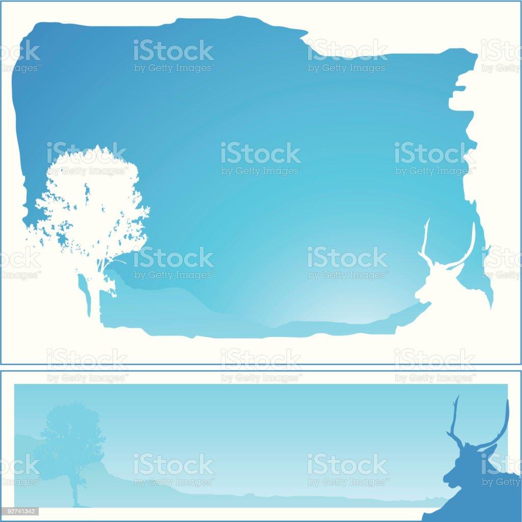 Winter-Frames 04 Lizenzfreies winterframes 04 stock vektor art und mehr bilder von anhöhe