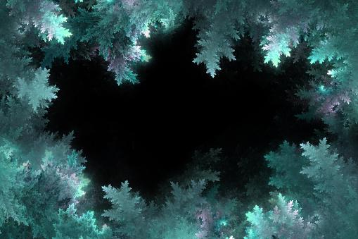 winter frosty frame, christmas background
