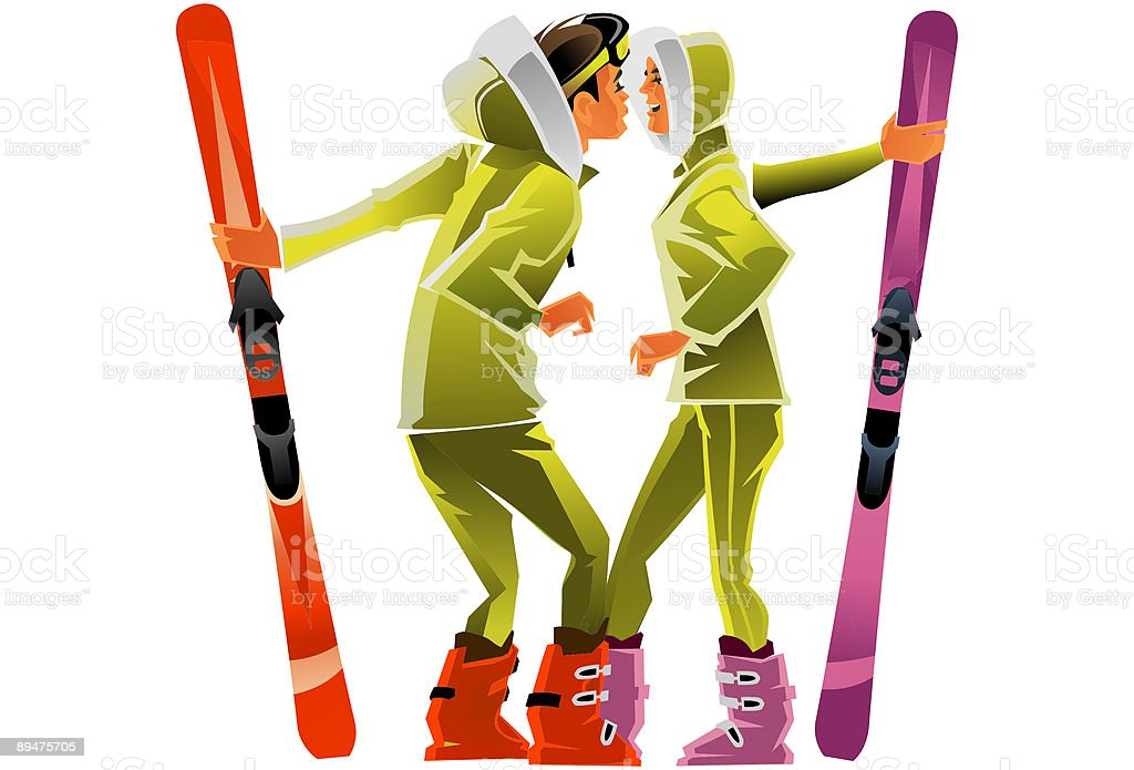 Winter game royalty-free winter game stock vector art & more images of back country skiing