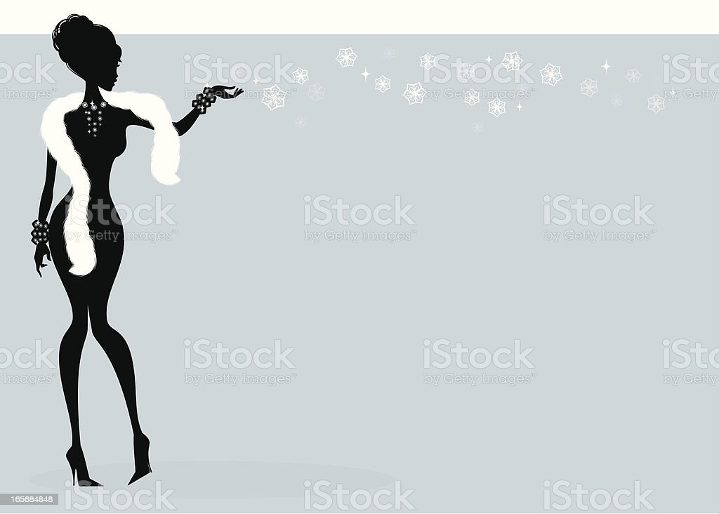 Winter Girl royalty-free stock vector art
