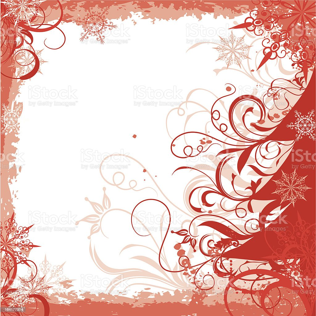 Winter grunge christmas frame royalty-free winter grunge christmas frame stock vector art & more images of backgrounds