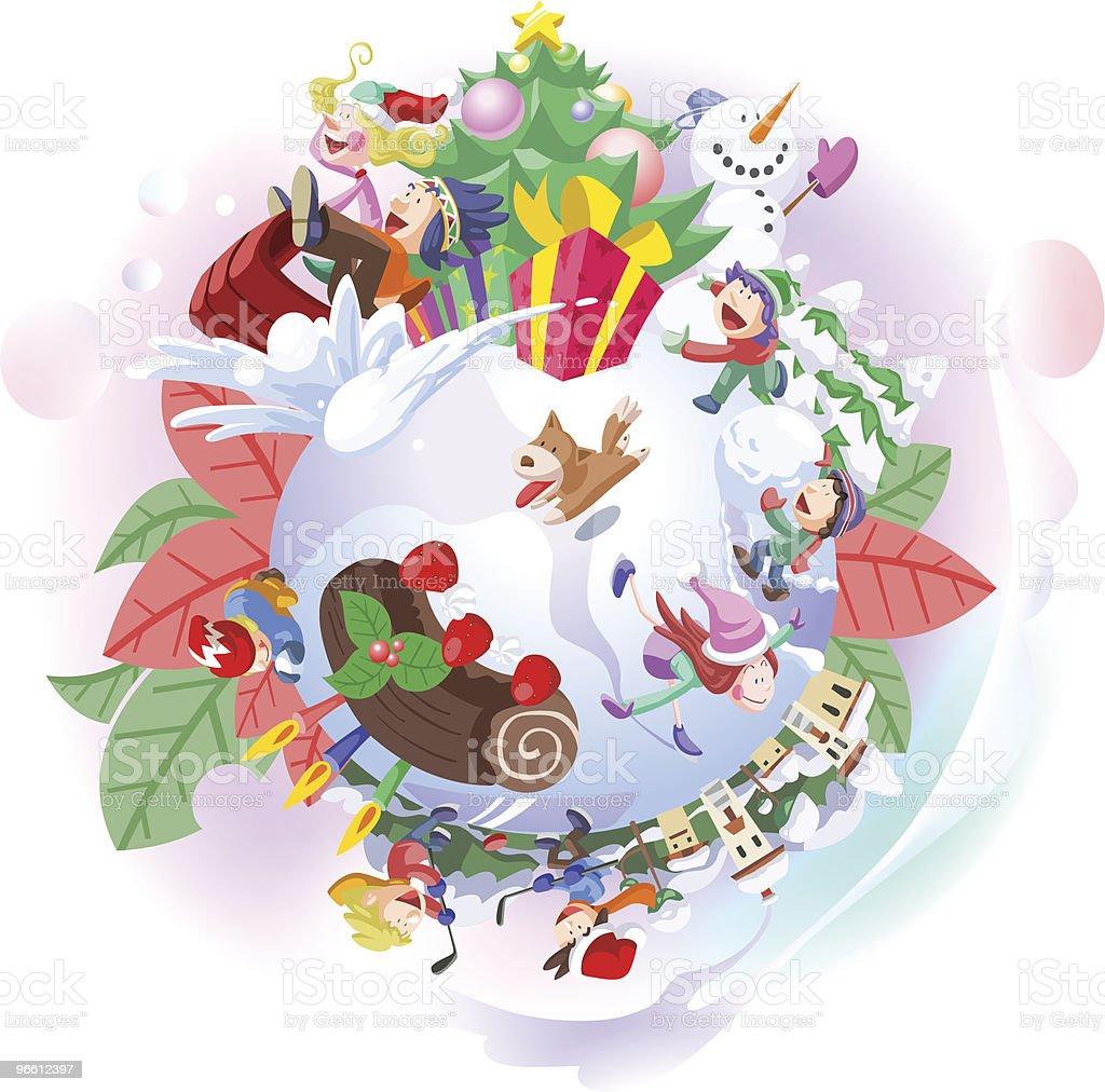 Winter Holiday Activities royalty-free stock vector art