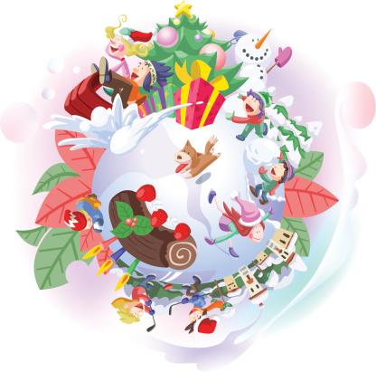 Winter Holiday Activities Stockvectorkunst en meer beelden van Aardbei