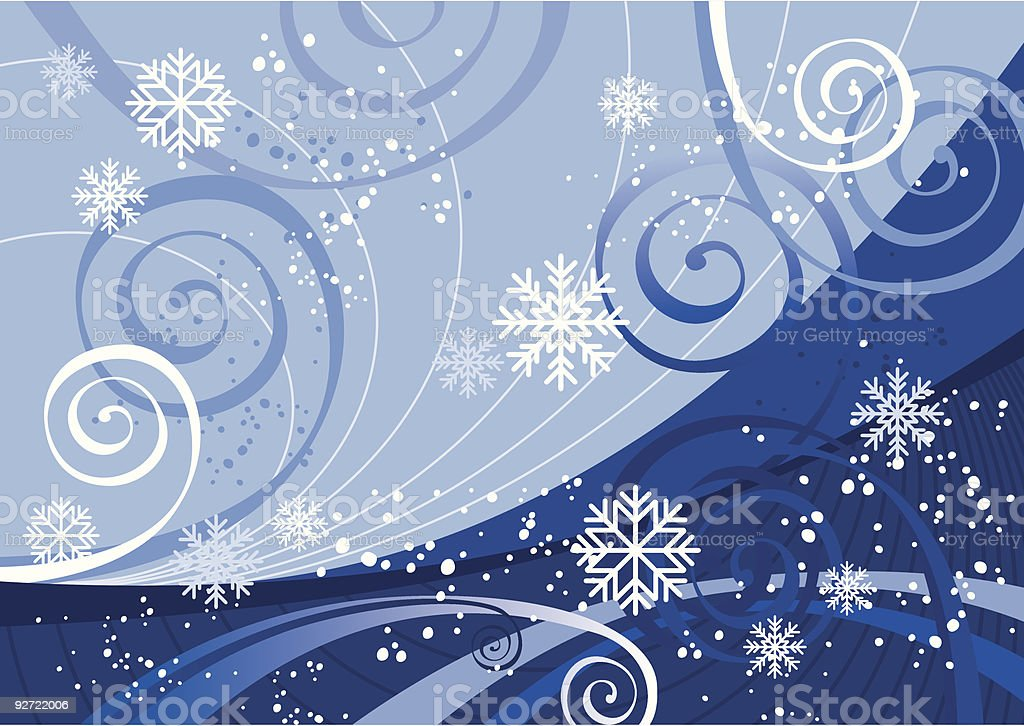 Winter Holidays (vector + XXL jpg in ZIP folder) royalty-free stock vector art