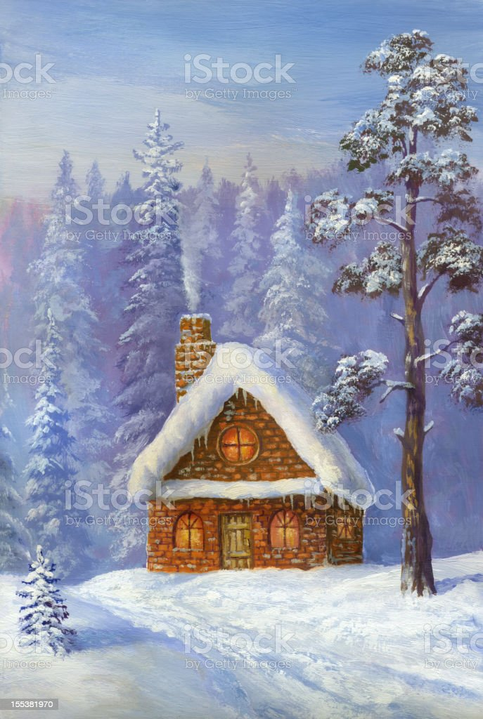 Winter Home royalty-free stock vector art