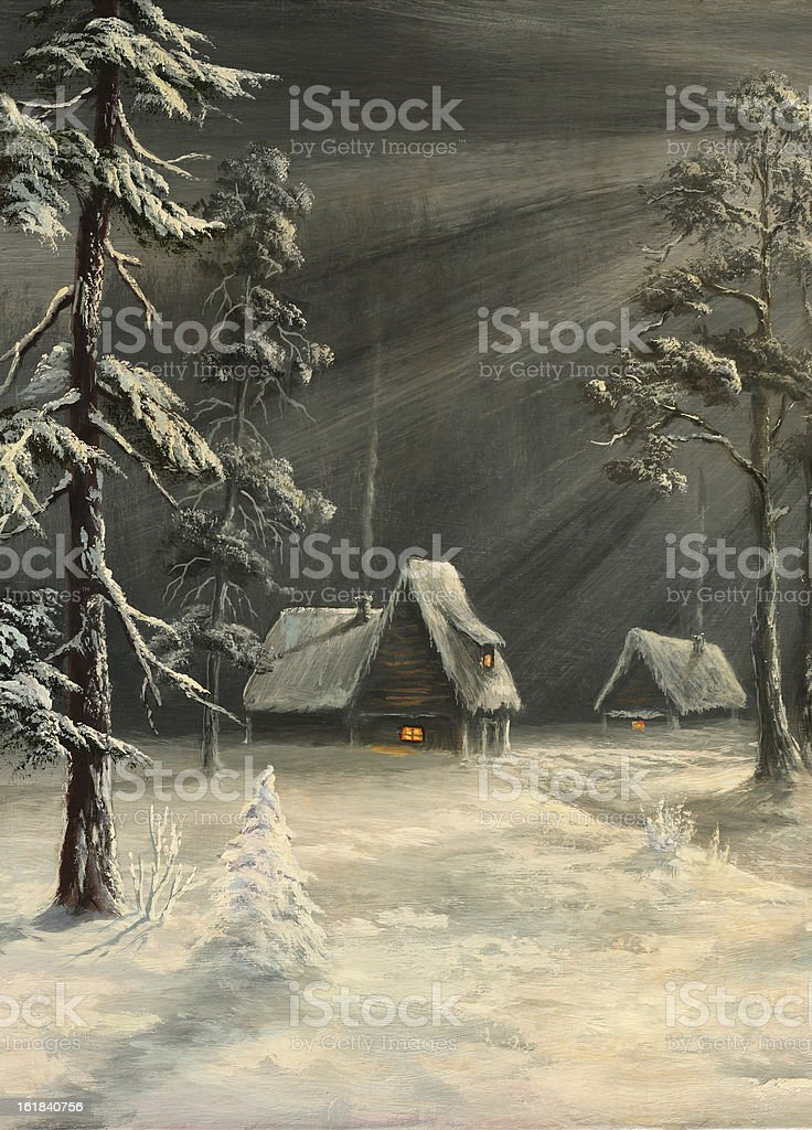Winter hut royalty-free winter hut stock vector art & more images of art
