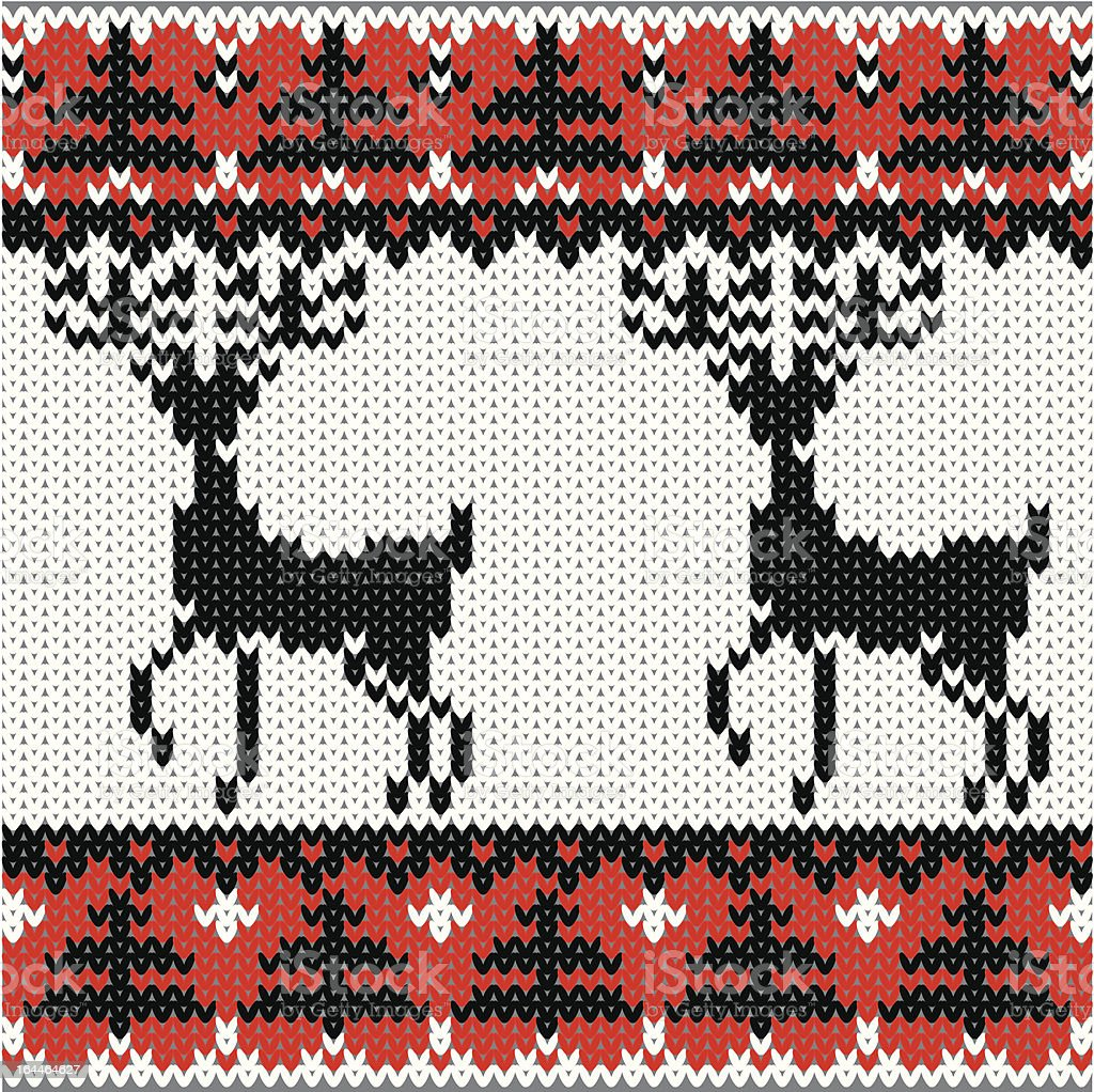 Winter knitted pattern royalty-free winter knitted pattern stock vector art & more images of animal markings