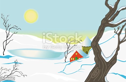 istock Paysage d'hiver 91684030