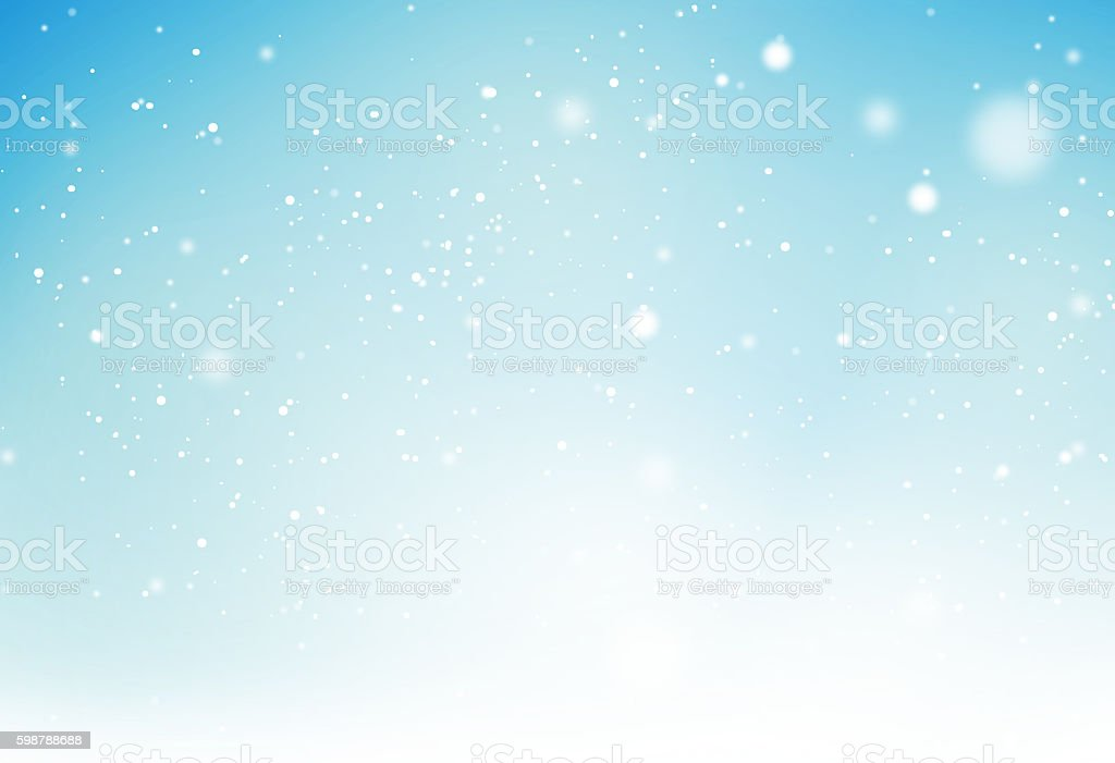 winter light blue snowflakes background graphic - Illustration vectorielle