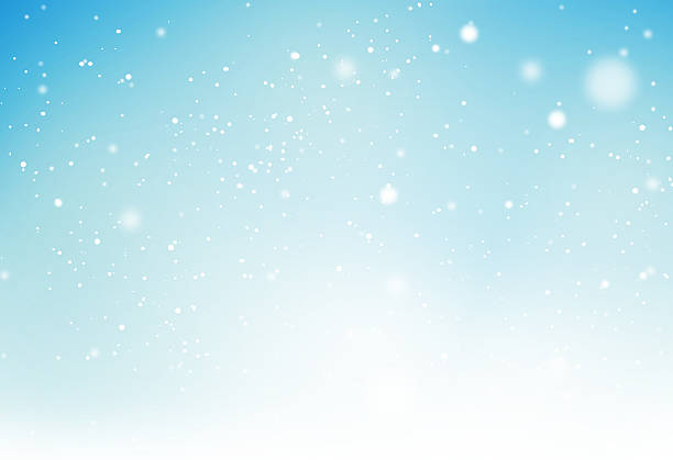 winter light blue snowflakes background graphic vector art illustration