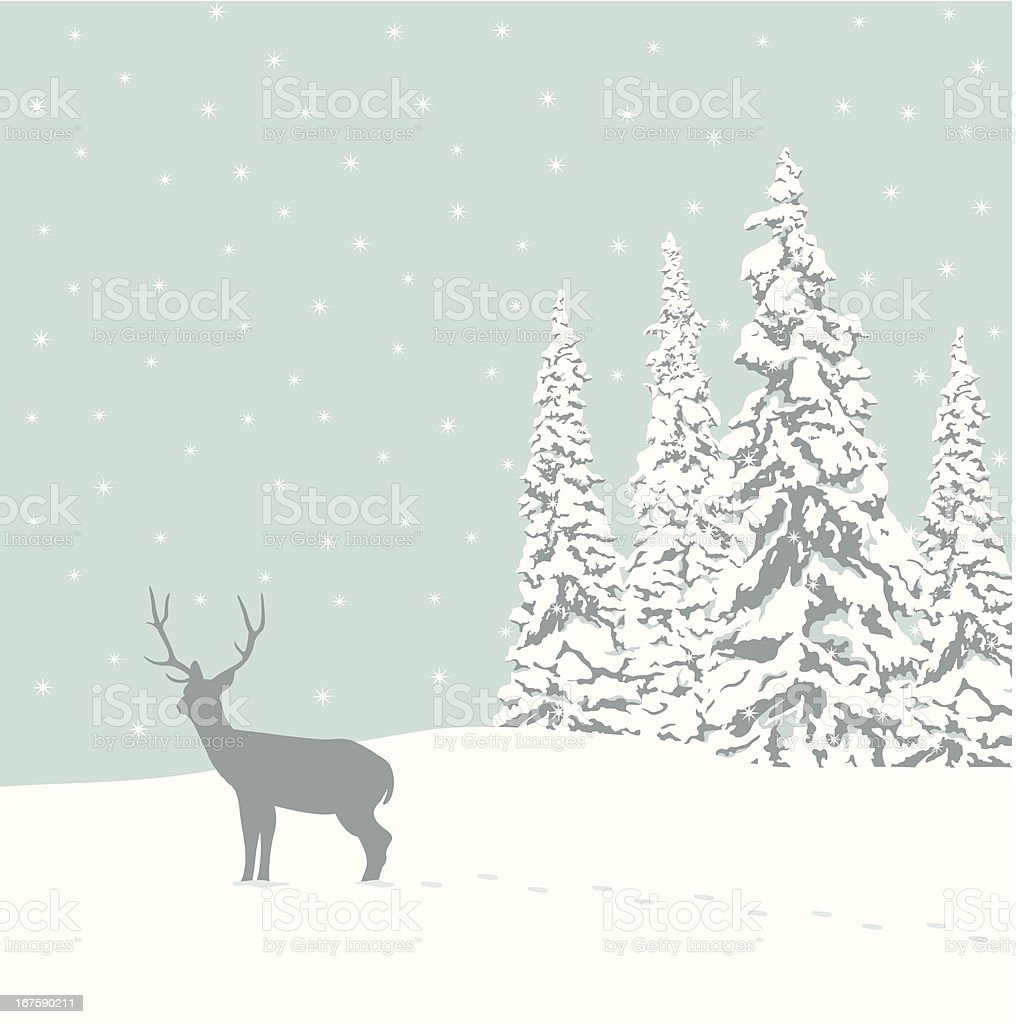 Winter Meadow royalty-free stock vector art