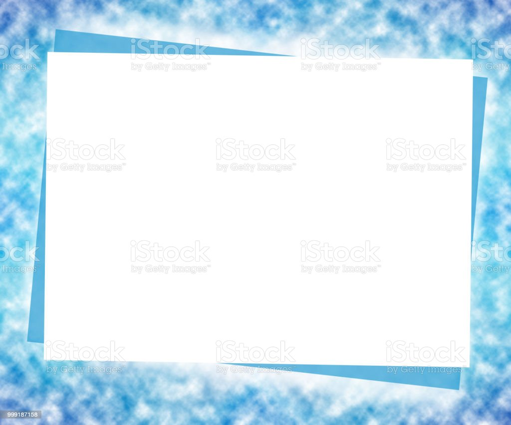 Winter Mock Up Template Big White Paper On Blurred Blue Background ...
