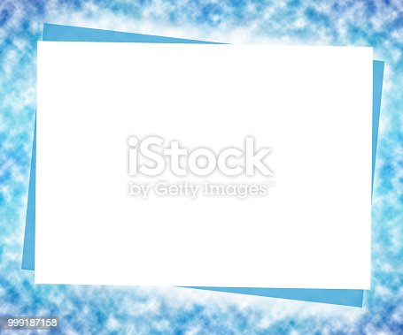 Winter Mock Up Template Big White Paper On Blurred Blue ...