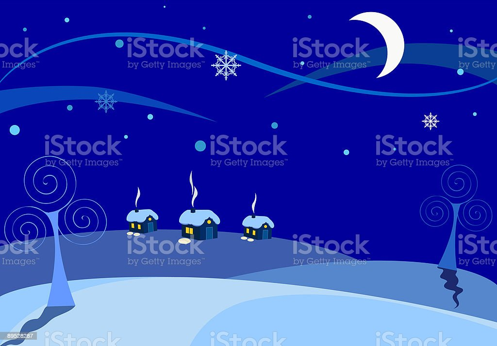 Winter night royalty-free winter night stock vector art & more images of cold temperature