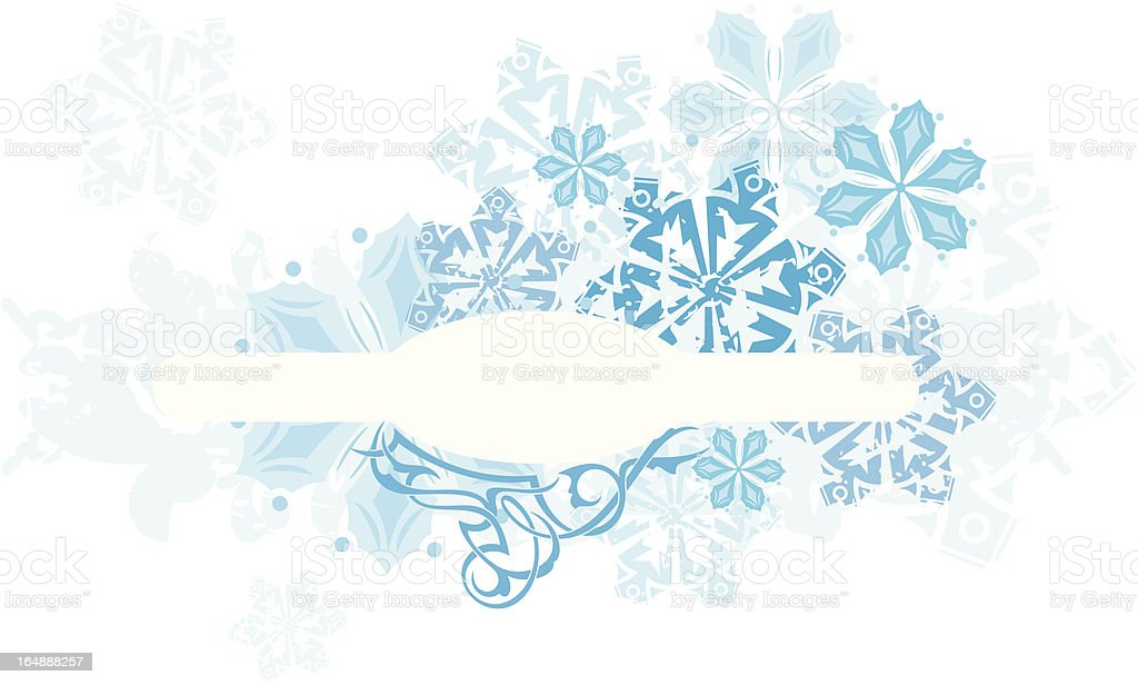 Winter Panel Series. royalty-free stock vector art