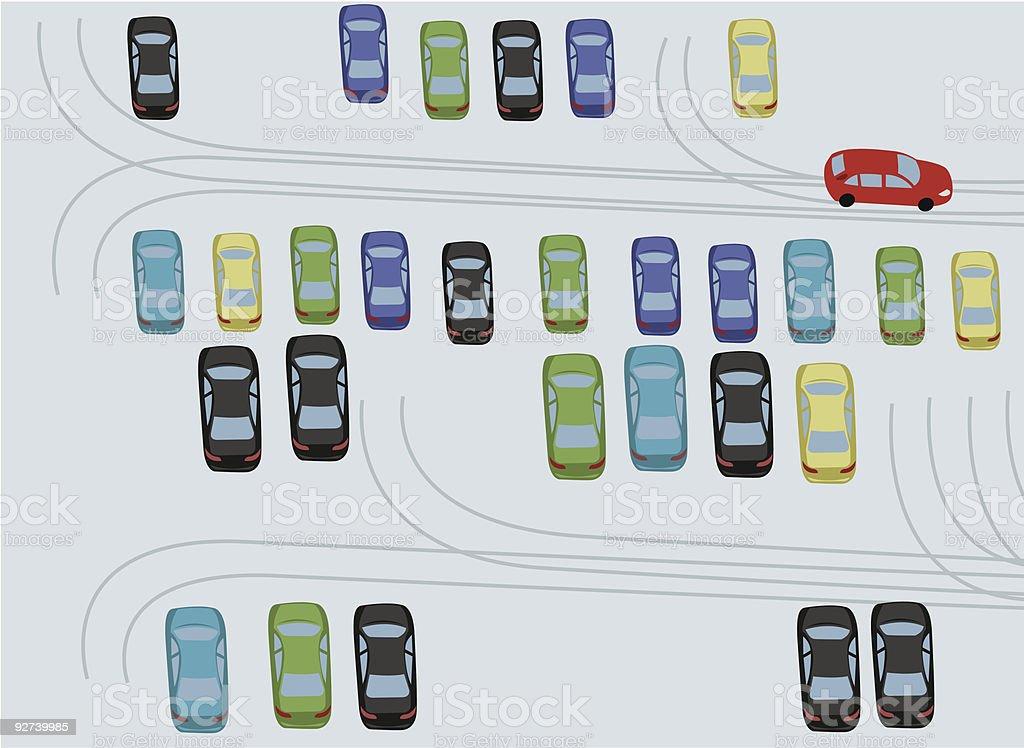 winter parking royalty-free stock vector art