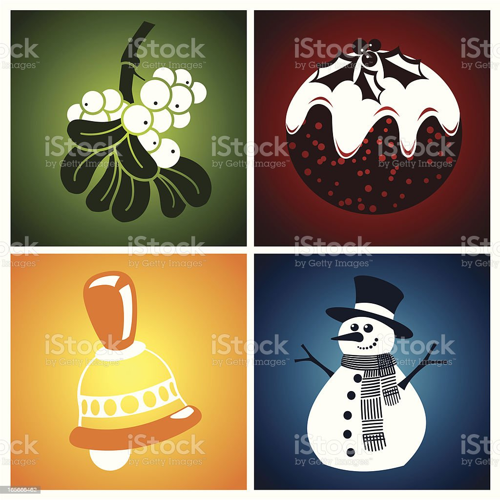 Winter quartet royalty-free stock vector art