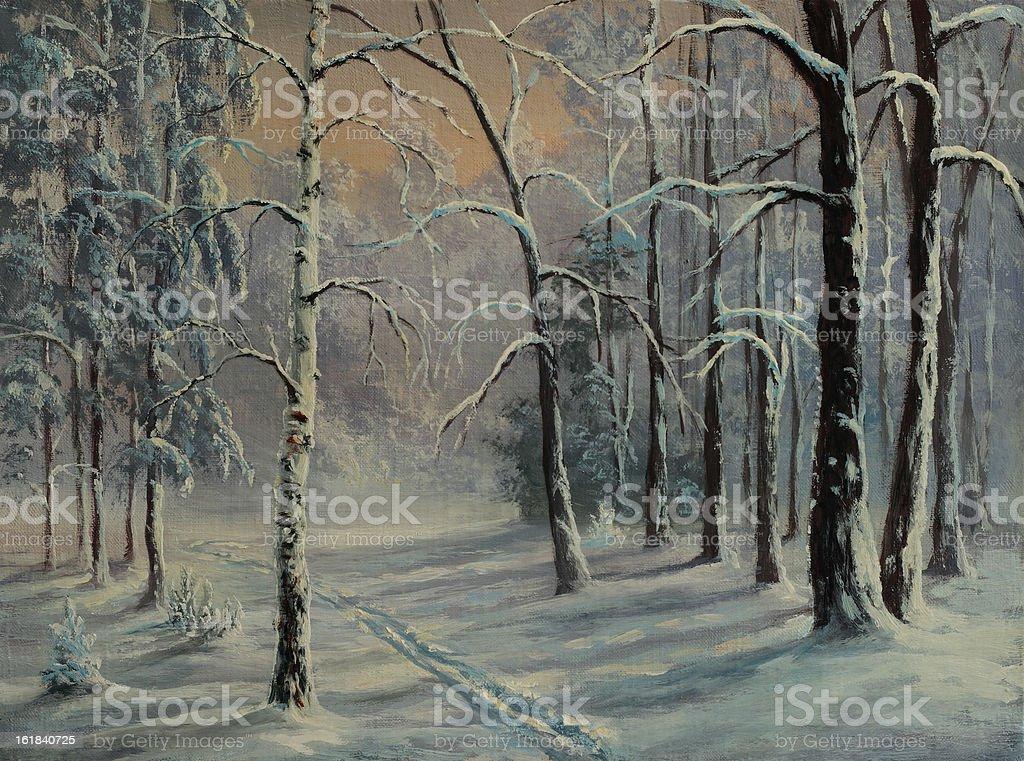 Winter repose royalty-free stock vector art