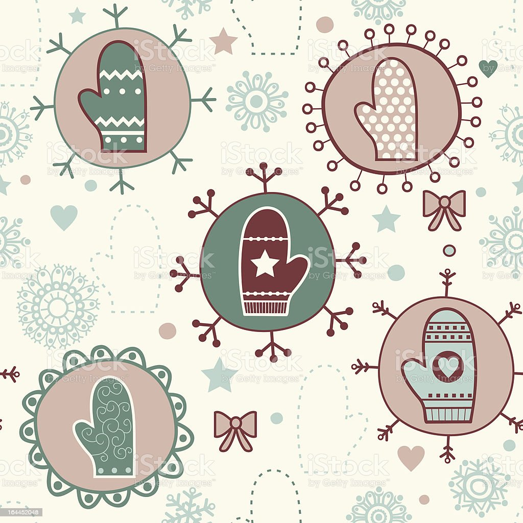 Winter seamless pattern with mittens royalty-free winter seamless pattern with mittens stock vector art & more images of affectionate