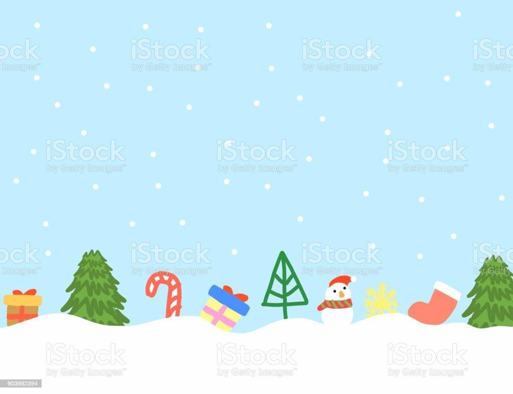 Wintersaison Abstrakte Hand Zeichnen Doodle Weihnachtsbaum ...