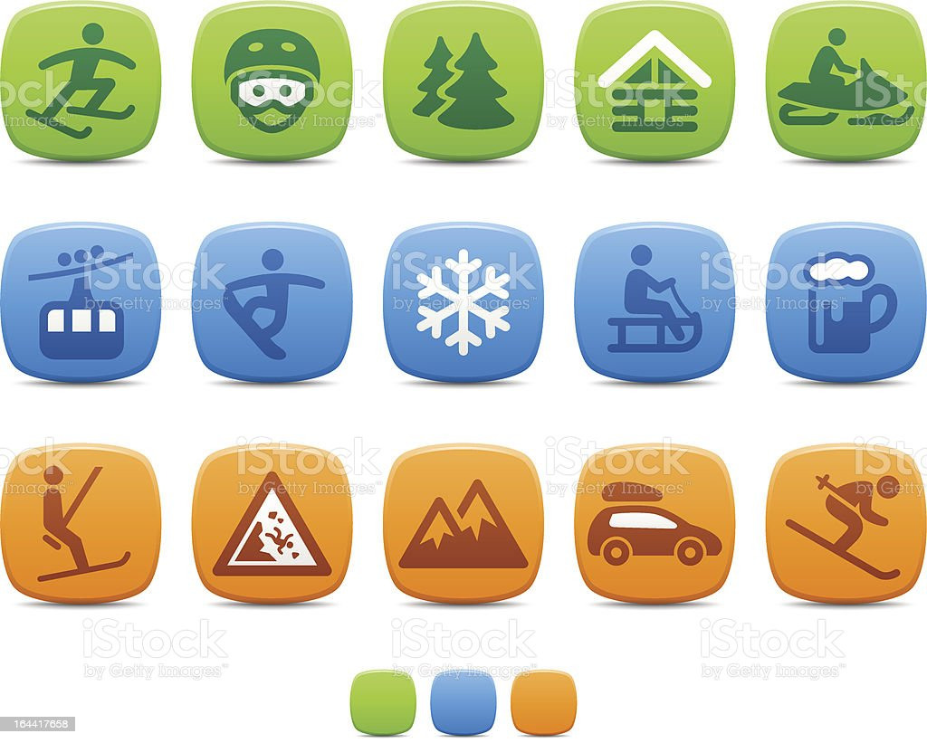 Winter Sport icons royalty-free winter sport icons stock vector art & more images of alpine skiing