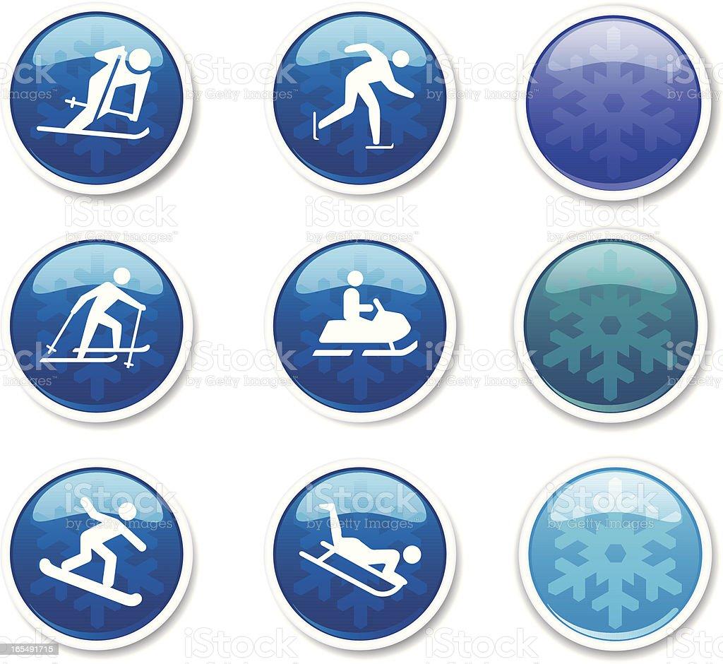 Winter Sports Icon Set royalty-free stock vector art