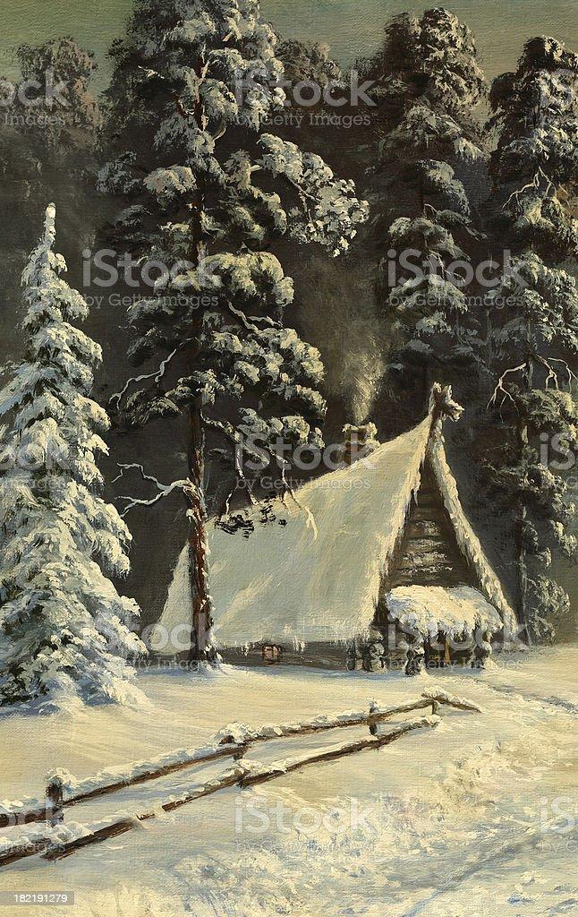 winter sunset royalty-free stock vector art