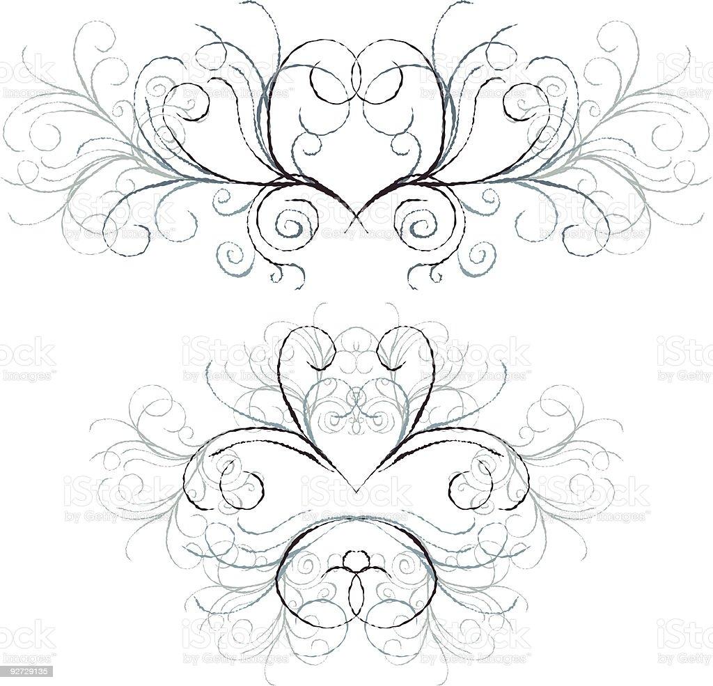 Winter Swirls vector art illustration