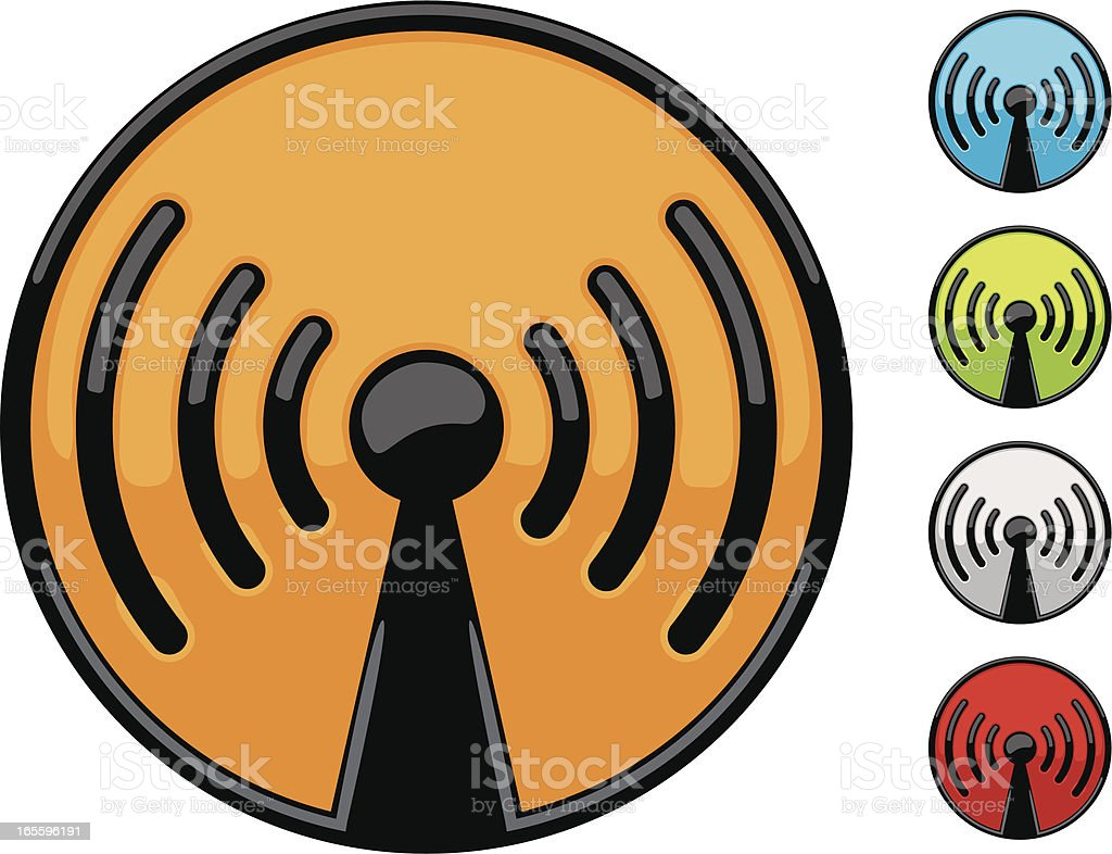 wireless icons royalty-free wireless icons stock vector art & more images of blue