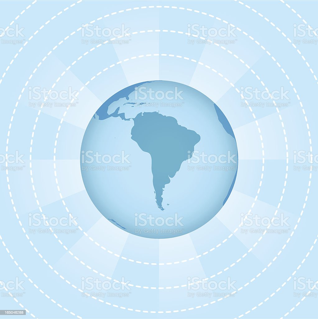 Wireless World - South America ( vector & jpg ) royalty-free stock vector art