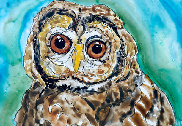 Wise Old Owl vector art illustration