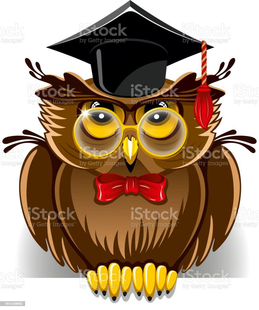 Wise owl royalty-free stock vector art