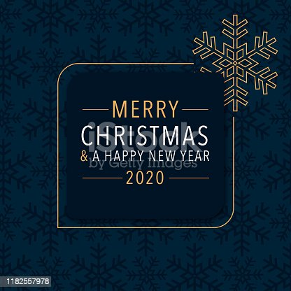 istock Wishing a Merry Christmas and a Happy New Year 2020 1182557978