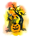 istock Witch with a Bird in Hand 173731709