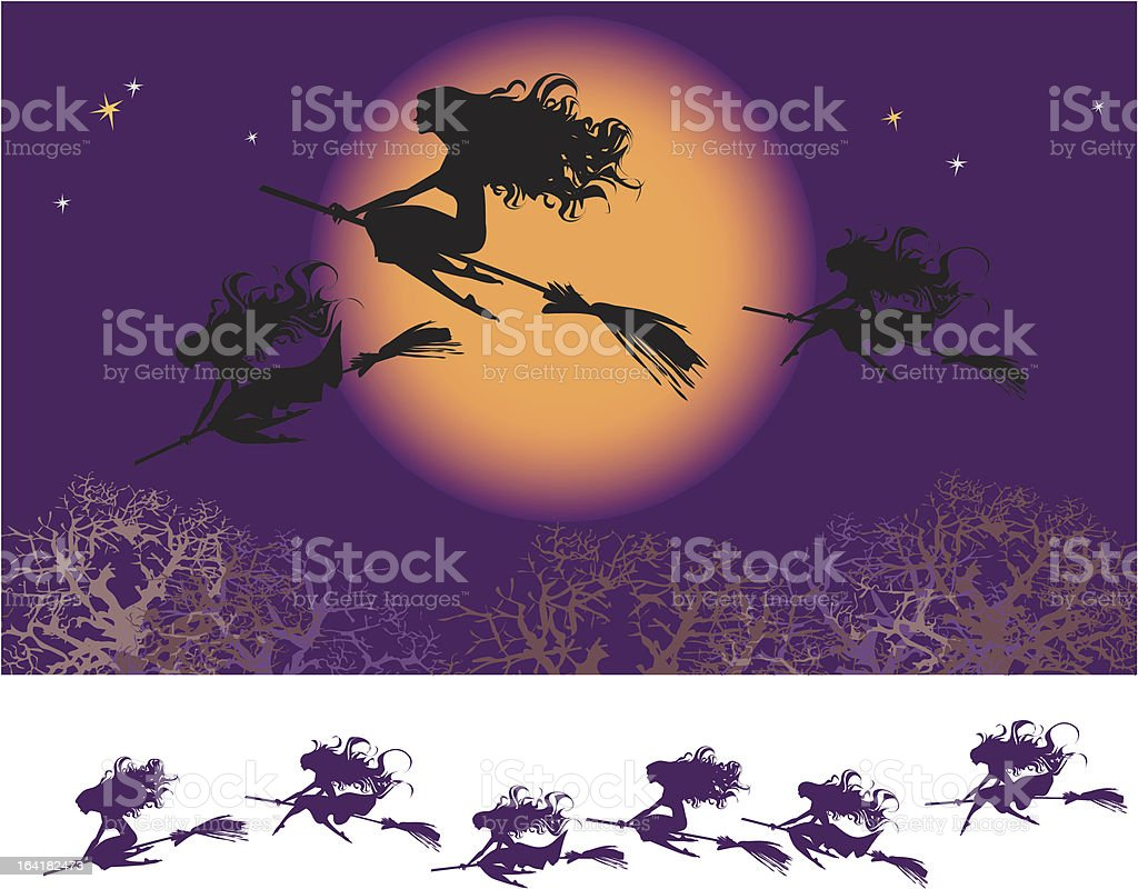 Witches fly royalty-free witches fly stock vector art & more images of adult