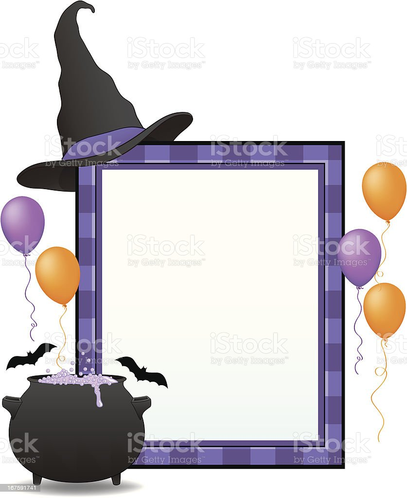 Witch's Halloween Sign vector art illustration