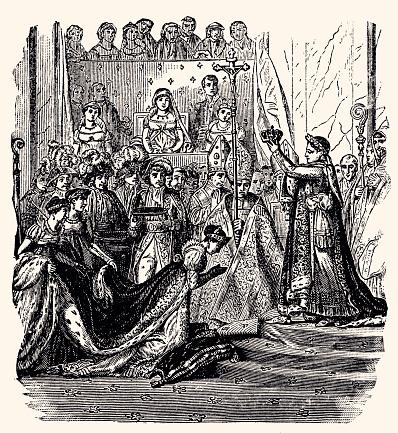 DEC 2,1804: NAPOLEON BONAPARTE CORONATION  -XXXL with lots of details-
