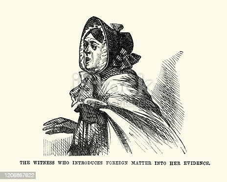 istock Witness, Law courts, Victorian London Characters, 1850s 1206867622