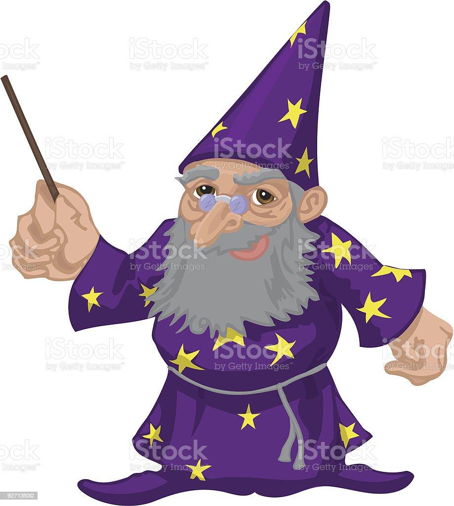 wizard royalty-free stock vector art