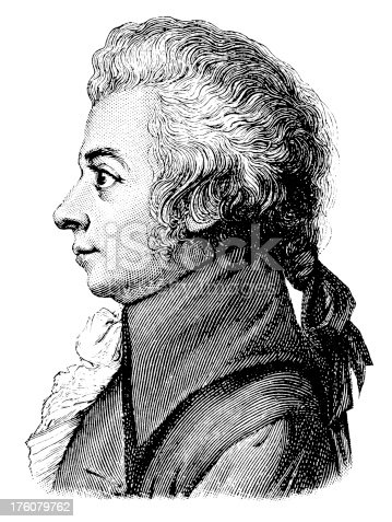 istock Wolfgang Amadeus Mozart   Antique Portrait Gallery 176079762