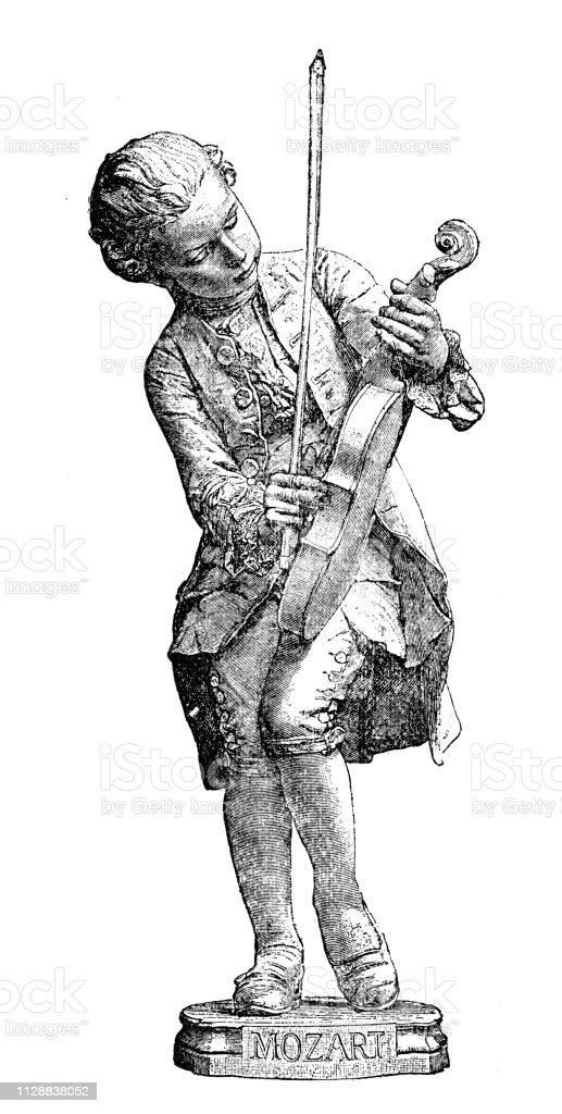 ヴォルフガング アマデウス モーツァルト 1894 を彫刻 19世紀の