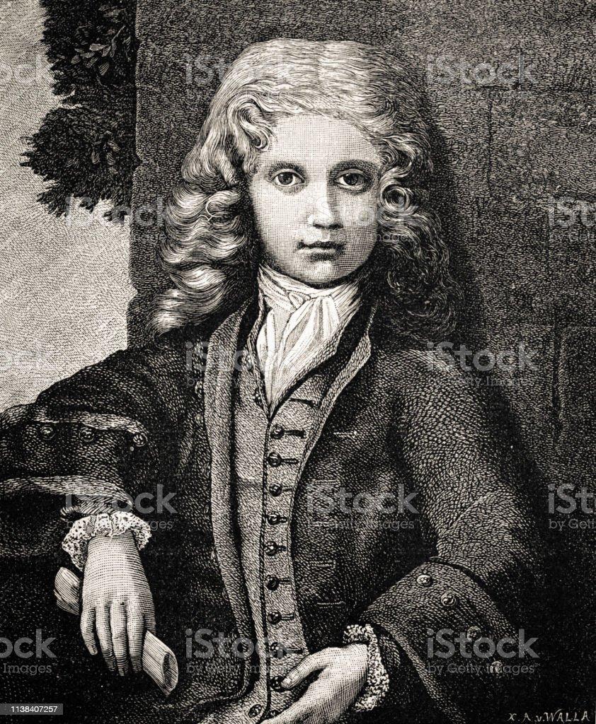 ヴォルフガングアマデウスモーツァルトイラスト1884から アイデアの