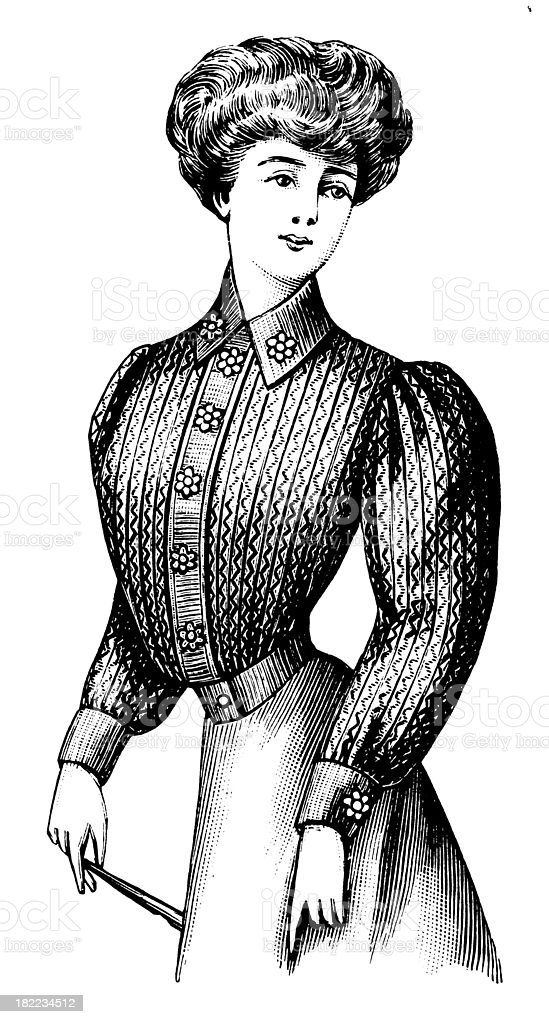 Woman | Antique Design Illustrations royalty-free stock vector art
