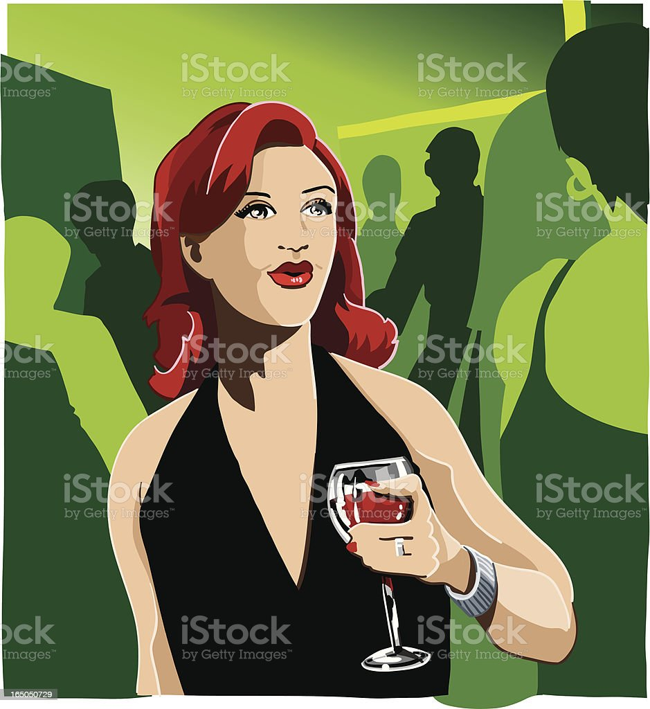 Woman at Party royalty-free stock vector art