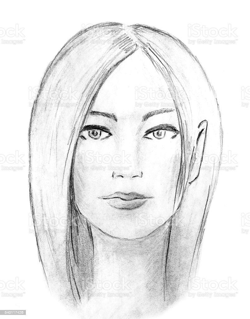 Femme Dessin Au Fusain Illustration De Mode Vecteurs Libres