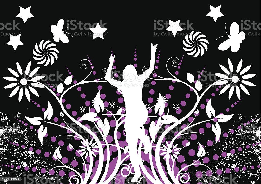 woman dancing royalty-free stock vector art