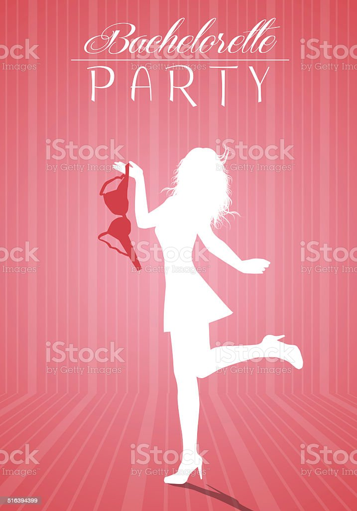 Woman for bachelorette party vector art illustration